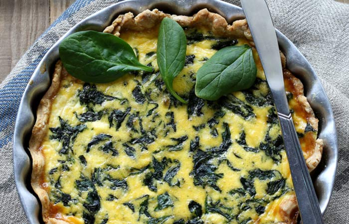 Vegetarian Breakfast Recipes - Vegan Spinach Quiche