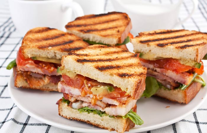 Vegetarian Breakfast Recipes - Grilled Tofu Sandwich