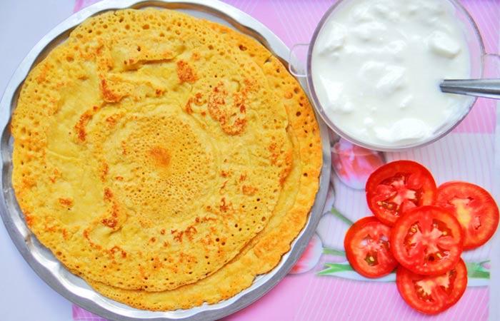 Vegetarian Breakfast Recipes - Bengal Gram Flour Pancake