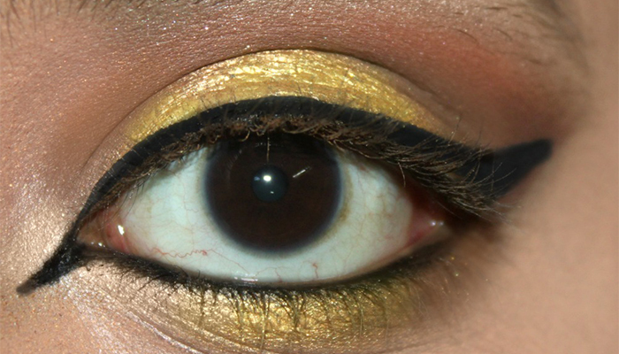 Animal Print Eye Makeup - Step 5: Create a Dramatic Winged Eye Look