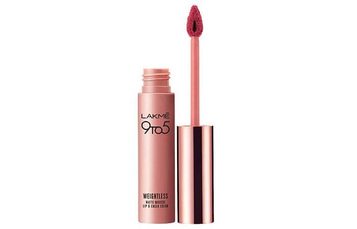 Lakme Matte Mousse Lip & Cheek Color In Plum Feather - Plum Shade Lipsticks