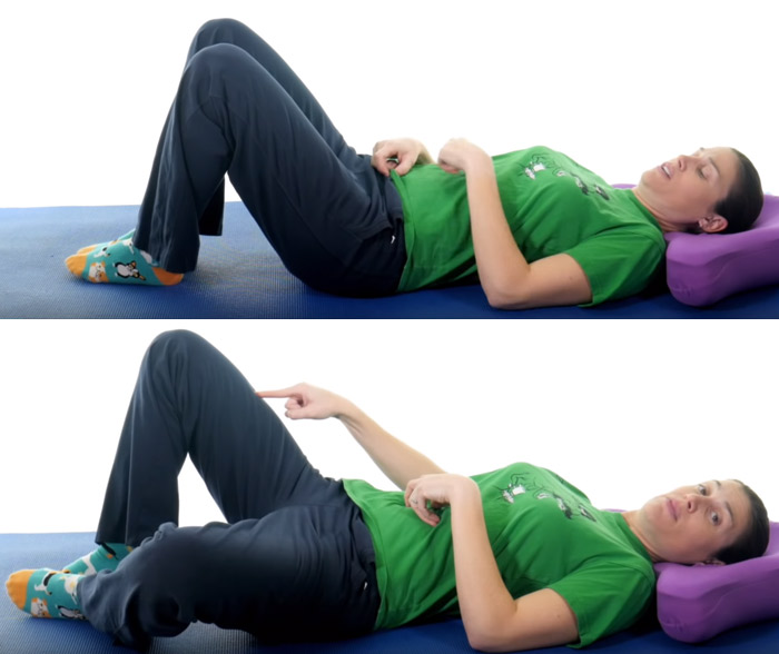 Lying Single Leg Adductor Stretch