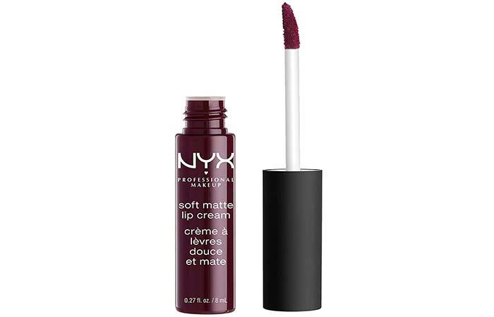NYX Soft Matte Lip Cream In Copenhagen - Plum Shade Lipsticks