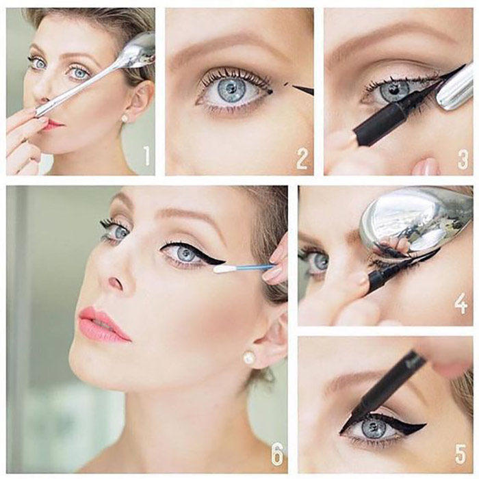 Creating Perfect Winged Eyeliner With Spoon