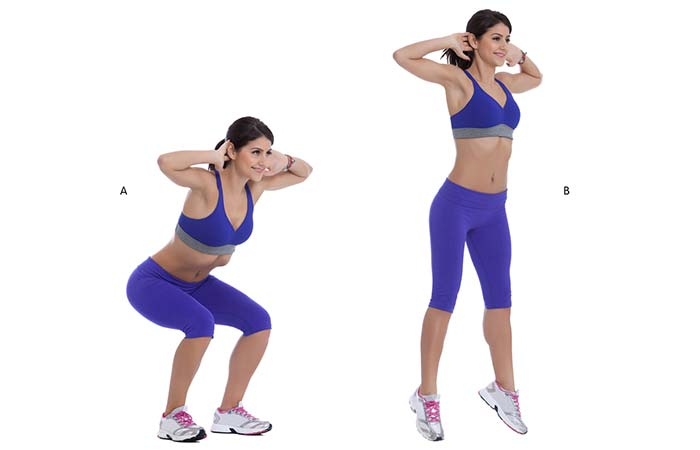 Best Plyometric Exercises - Squat Jumps