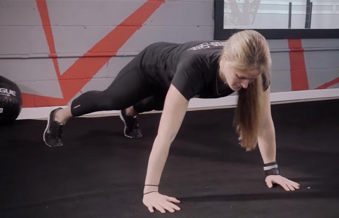 Arm Workouts Without Using Weights - Lateral Plank Walks