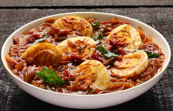 Indian Egg Recipes For Dinner - Tomato Egg Curry