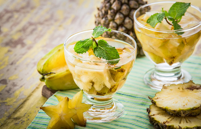 Infused Water Recipes - Star Fruit Pineapple Infused Water