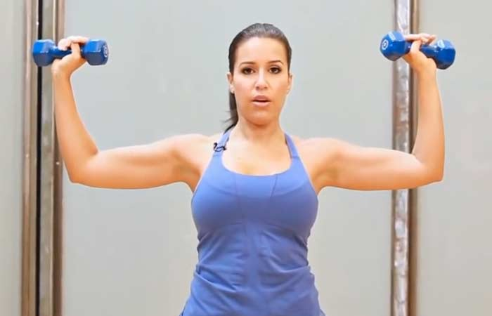 Chest Exercises For Women - Overhead Shoulder Press