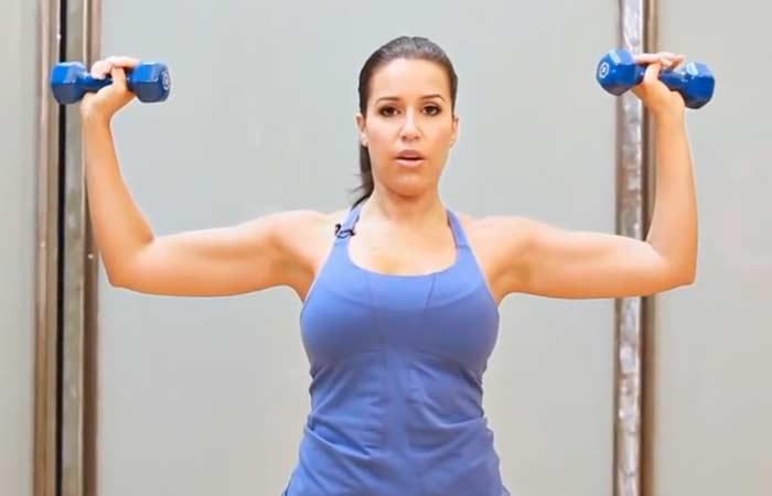 Chest Exercises For Women - Overhead Shoulder Press