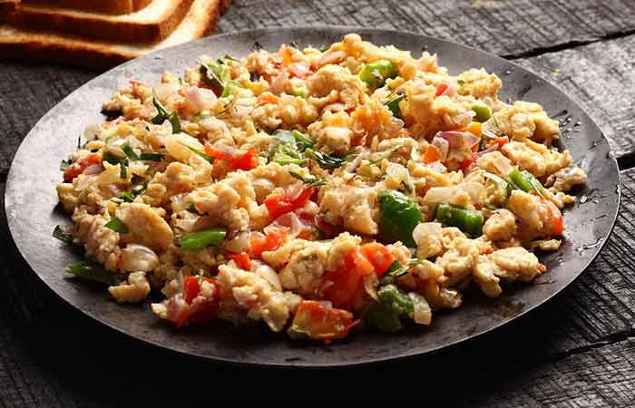 Indian Egg Recipes For Dinner - Paneer Egg Bhurji