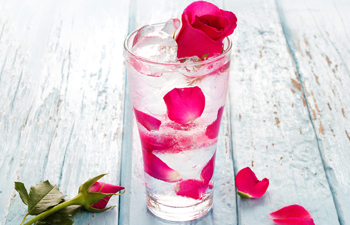 Infused Water Recipes -Rose Petal Fennel Seed Infused Water