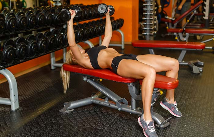 13. Dumbbell Bench Press