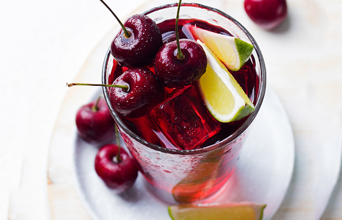 Infused Water Recipes - Cherry Lime Infused Water