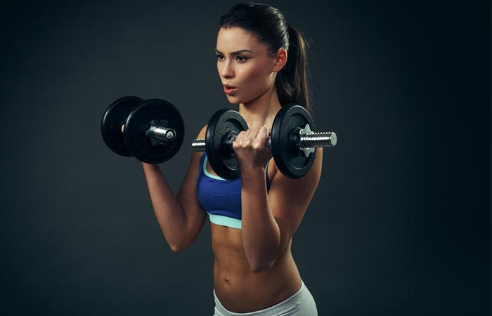 14. Dumbbell Bicep Curls