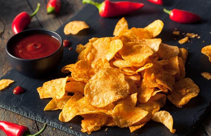 Oil Free Snack Recipes - Potato Crisps