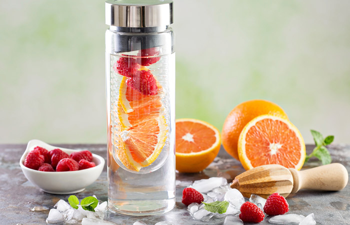 Infused Water Recipes - Raspberry Orange Infused Water