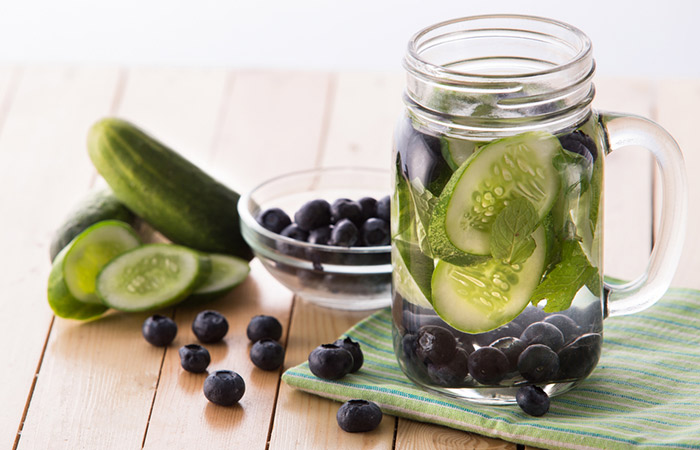 Infused Water Recipes - Blueberry Cucumber Infused Water