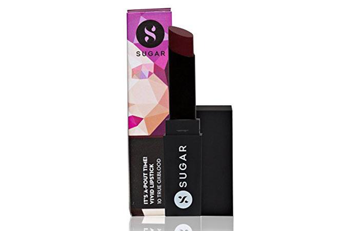 Sugar Cosmetics True Oxblood In Burgundy Red - Oxblood Lipsticks