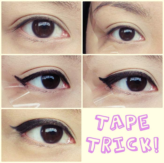 Creating Perfect Winged Eyeliner With Tape