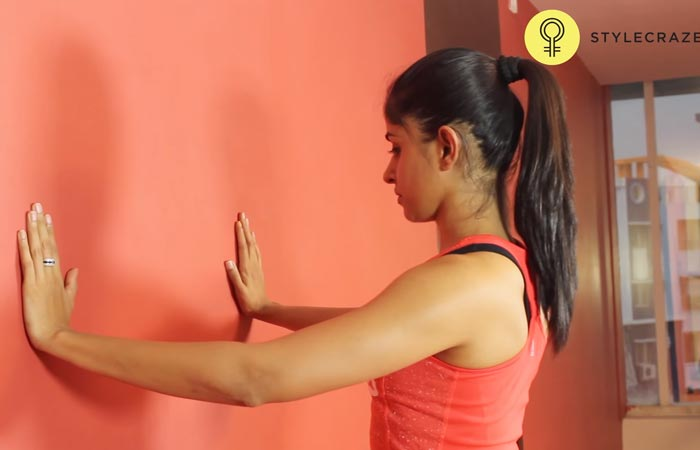 Arm Workouts Without Using Weights - Wall Push-ups
