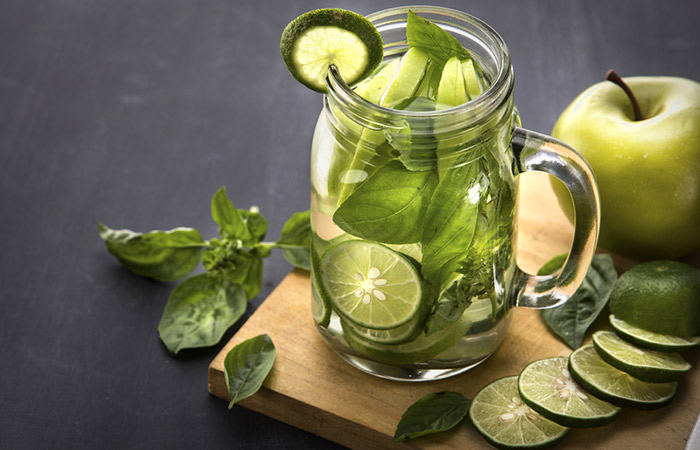 Infused Water Recipes - Green Apple Lime Infused Water