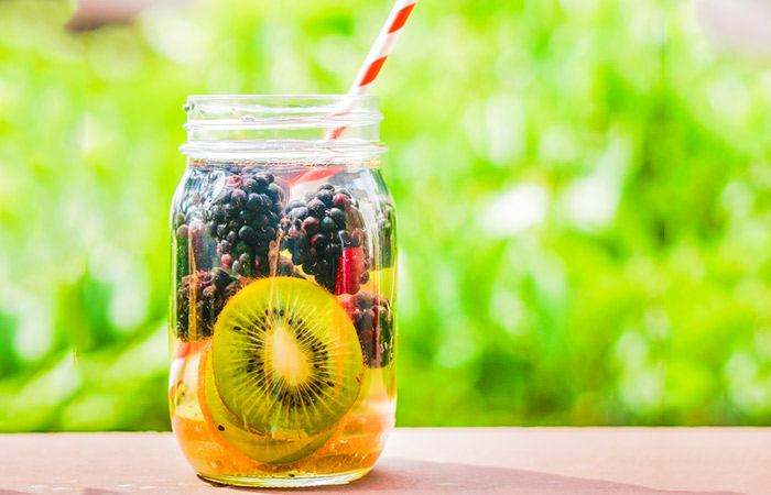 Infused Water Recipes - Blackberry Kiwi Infused Water