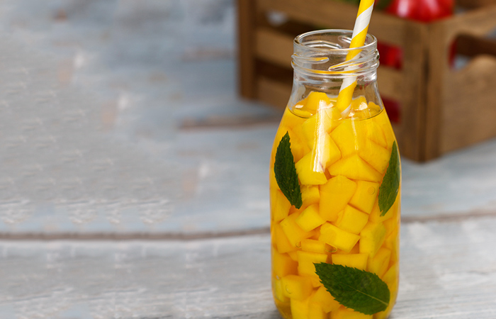 Infused Water Recipes - Mango Basil Infused Water