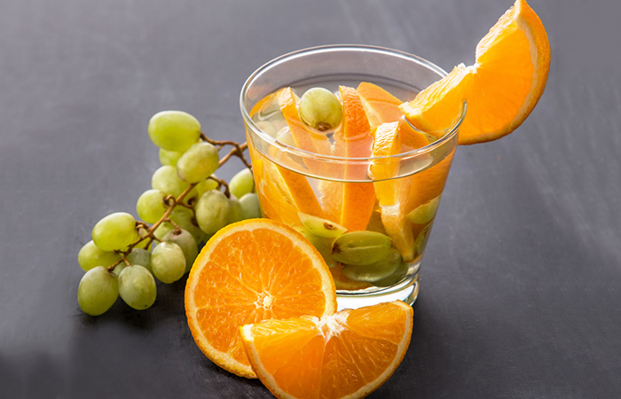 Infused Water Recipes - Grape Orange Infused Water