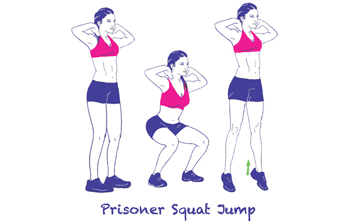Calisthenics Exercises - Prisoner Squat Jumps