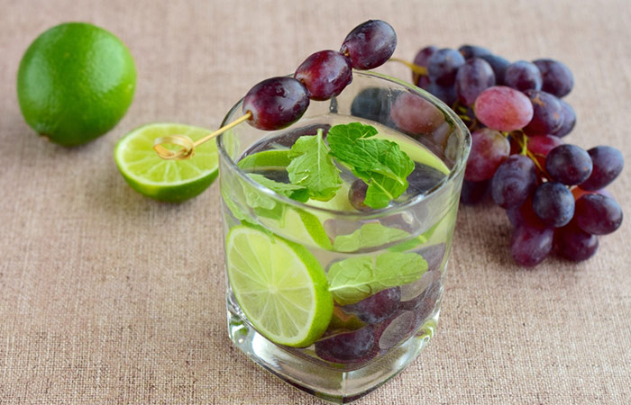 Infused Water Recipes - Black Grape Lime Infused Water