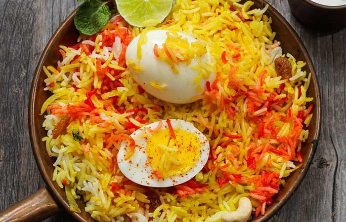 Indian Egg Recipes For Dinner - Egg Biryan
