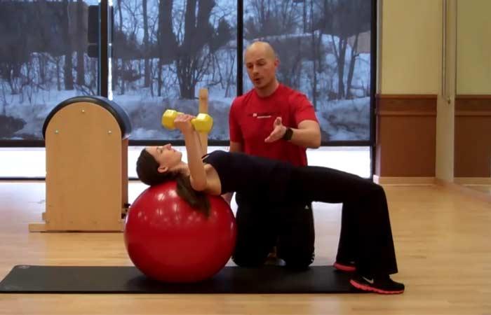 Chest Exercises For Women - Lying Chest Fly