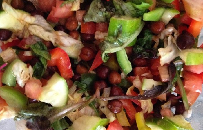 Oil Free Snack Recipes - Bengal Gram Tangy Chaat