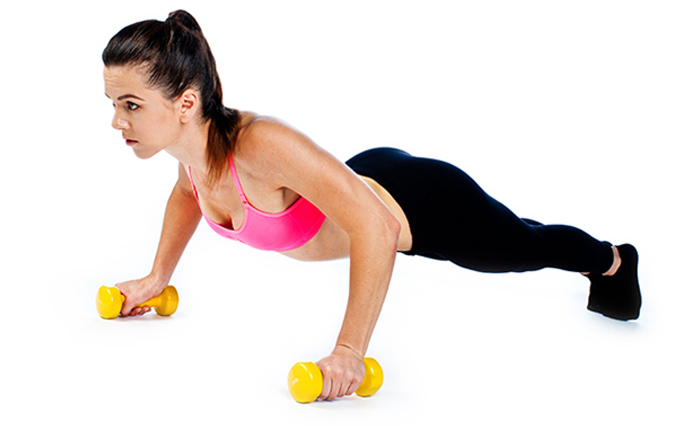 5. Renegade Rows With Dumbbells