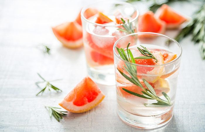 Infused Water Recipes - Grapefruit Rosemary Infused Water