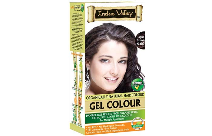Brown Hair Color - Indus Valley Permanent Light Brown Hair Colour