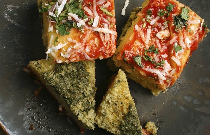 Oil Free Snack Recipes - Oats And Palak Dhokla