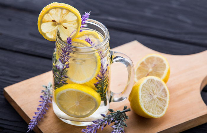 Infused Water Recipes - Lemon Lavender Wonder Infused Water