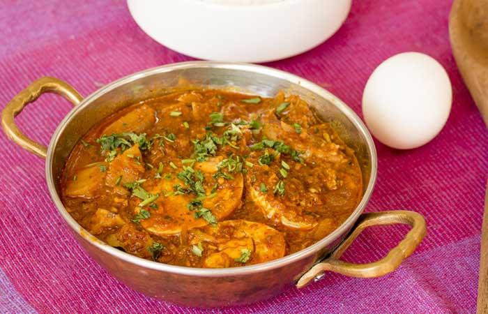 Indian Egg Recipes For Dinner - Methi Anda