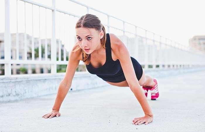 Chest Exercises For Women - Wide Push-ups