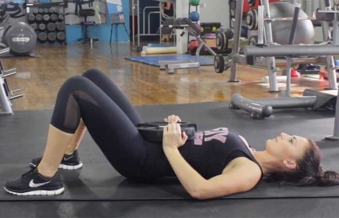 Bridge Exercises - Weighted Glute Bridge