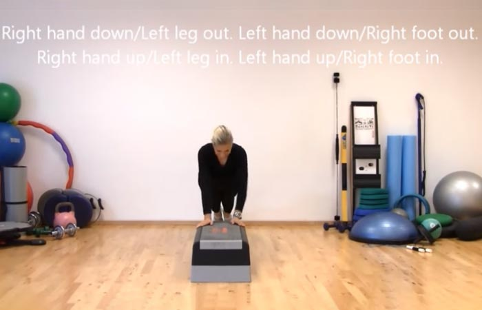Arm Workouts Without Using Weights - Step Climbers
