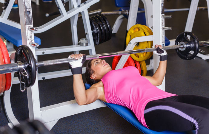 Chest Exercises For Women - Barbell Bench Press