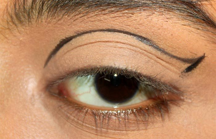 Cut Crease Arabic Eye Makeup Tutorial (3)