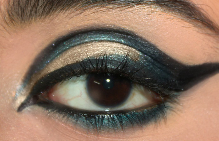 Cut Crease Arabic Eye Makeup Tutorial (8)