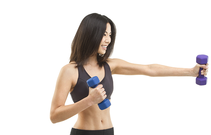 1. Dumbbell Punches
