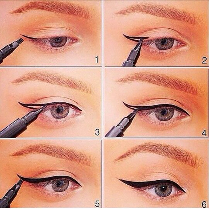 How To Create Winged Eyeliner Perfectly? - Free Hand Guide