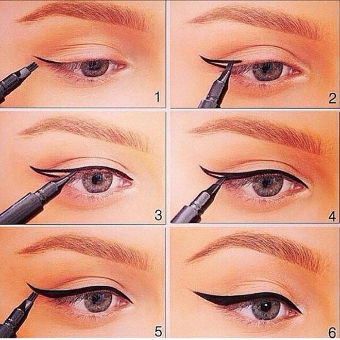 ¿Cómo crear un delineador de ojos alado perfectamente? - Guía de manos libres