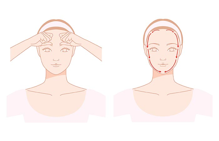 Massage The Entire Outline Of Your Face